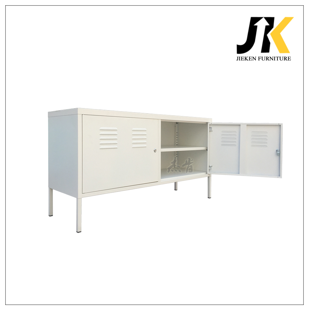 Korea Style New Designs Simple Living Room Metal TV Stand Storage Cabinet
