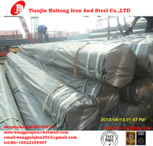 BS1387 hot dip galvanized steel tubes/pipes with export packing