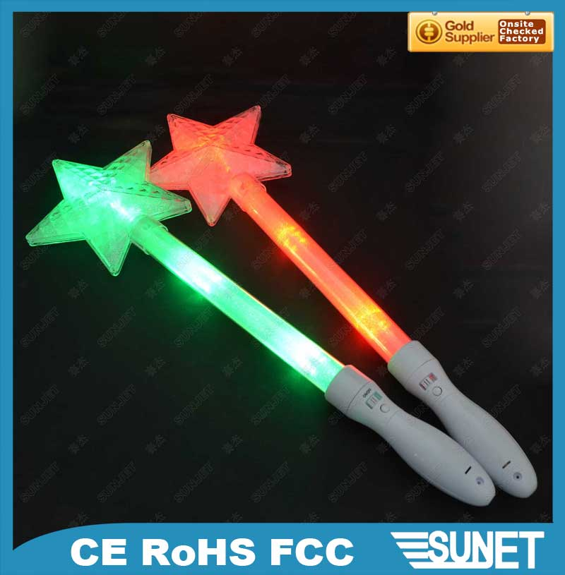 Sunjet battery operated acrylic star glow stick