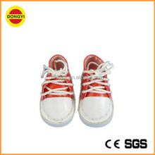 Mini doll sport shoes DS030 very small leather baby sport shoes including matching lace-ups