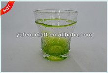 clear drinking cup, bubble candle cup, glass cup