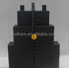 Commercial black weight stack plates for fitness