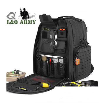 27L Military Heavy-Duty Tactical Range Bag Backpack w/3 Separate Pistol Case