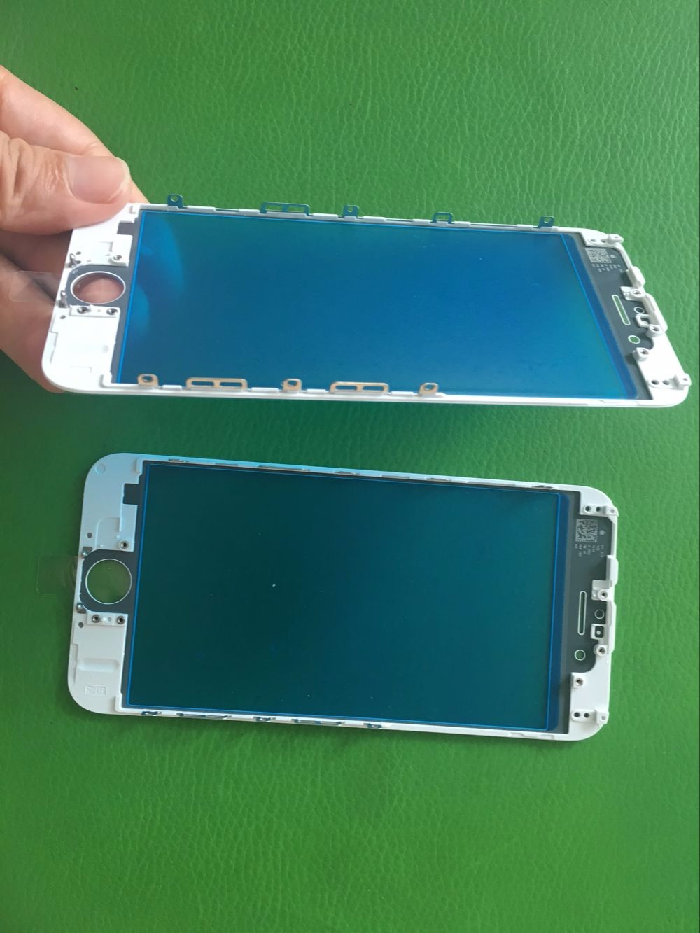 Tuoli LCD repair parts glass with oca with frame using transparent plastic box for iphone 6 for iphone 6s