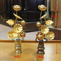 High quality beautiful artificial flower cheap for Buddhist altar