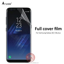 2017 New premium 3D curved edge TPU full cover film for Galaxy S8/S8 Plus screen protector