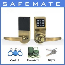 smart home Password+Key+RF card Remote Control Door Lock