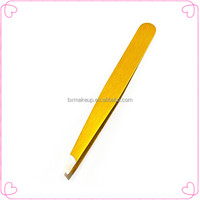Professional tweezer manufacturer offer eyebrow extension slant tweezer