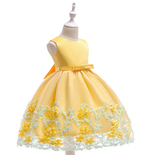 Baby Girl Dress New Design Pictures For Children Gown Neck Designs Flower Girl Party Dress L1845