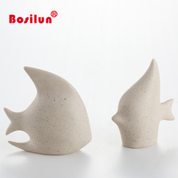 Fashion ceramic fishes show pieces for home decoration