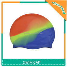 Novelty Round Bright Color Silicone Swimming Cap