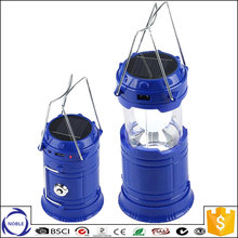 China factory hot-selling rechargeable camping solar lantern with mobile phone charger