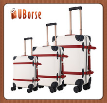 Customize Travelling PU leather suitcase luggage with Patent