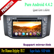 Special for Nissan Car /Bluetooth hands-free Android 4.4 Quad core Car dvd mp4 player for Nissan Sylphy/B17 2012-2014