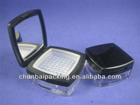 12g loose powder container with mirror