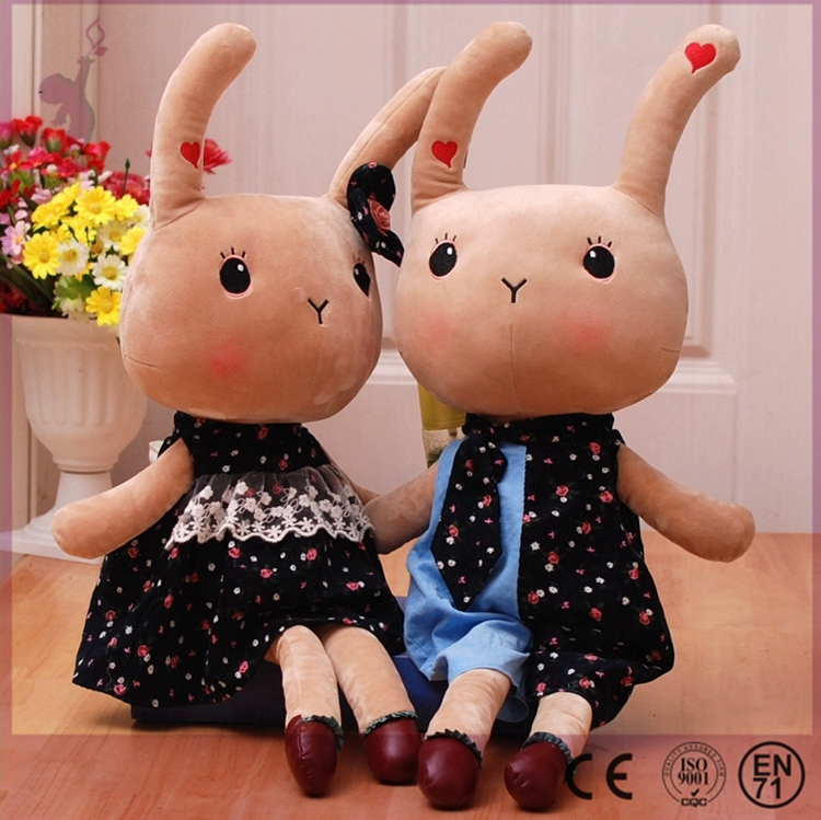 2017 Alibaba Hot stuffed soft lovely plush grey <strong>rabbit</strong> for children