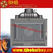 BHB 140 kg net weight cast iron material wood burning fireplace