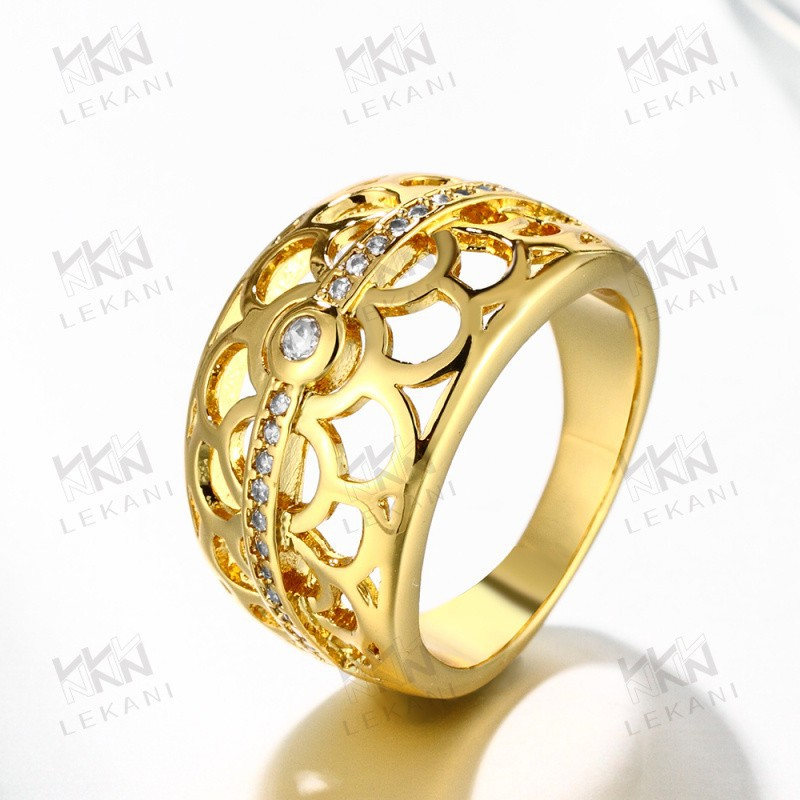 fashion ring finger rings brass gold plated jewelry