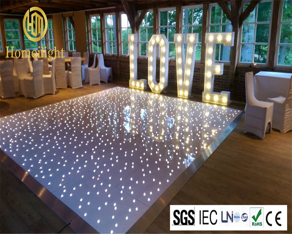 Most Popular 14*14FT LED Dance Floor Panels For Wedding DJ Bar Party Twinkling Light Dance Floor Tile