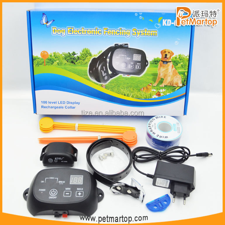2016 hot sell new electronic pet dog fence system TZ-KD660 cheap in ground electric shock dog fence