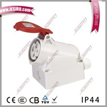 16A,400V cee wall plugs and socket,cable penetration from the top or bottom