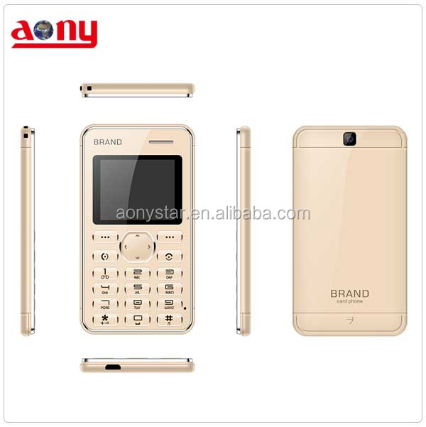 small size mini mobile phone ultra thin card cellphone gsm quad band unlocked telefono movil