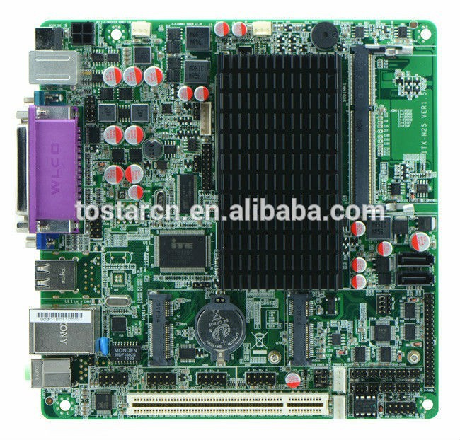 ITX-H25_28 - Intel Atom N2800 Fanless Industrial Mini Itx Motherboard