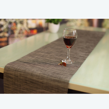 Hot selling best price heat resistant furniture decor fashion fancy restaurant plastic vinyl woven pvc table runner