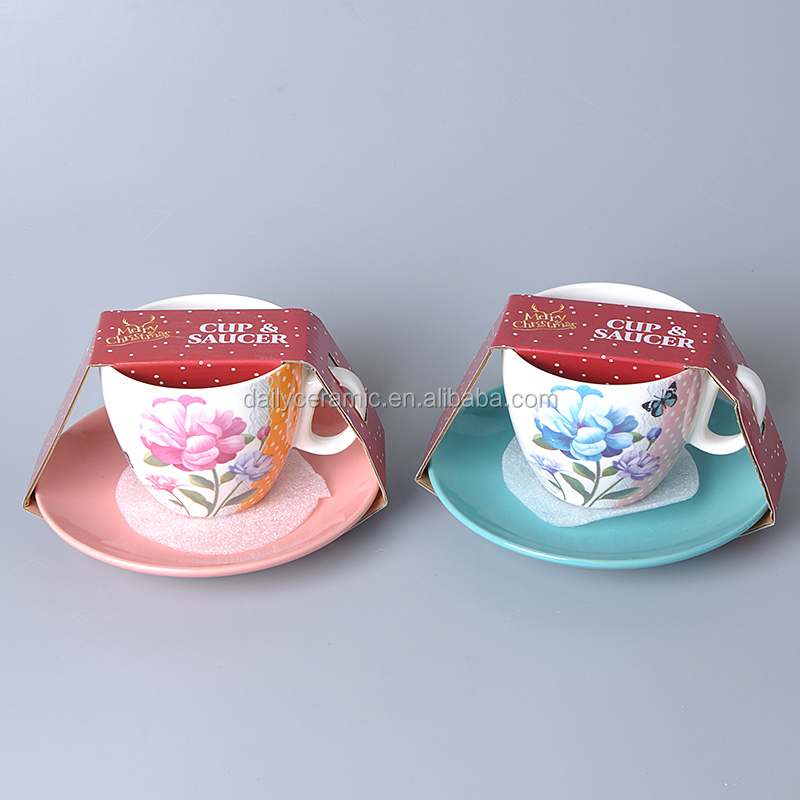 China Suppliers New Products 9 oz Ceramic Coffee Set&Tea Set Fine Bone China Coffee Set&Tea Set