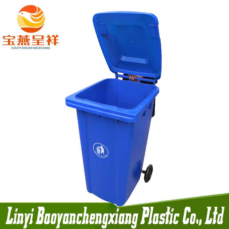 240L Outdoor Plastic Dustbin/ Waste Can/ Garbage Bin With 2 <strong>Wheel</strong>
