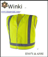 Roadway Clean Worker Wear Safety Vest High Reflective Strips ,120gsm Knitting Fabric Conformed to CE