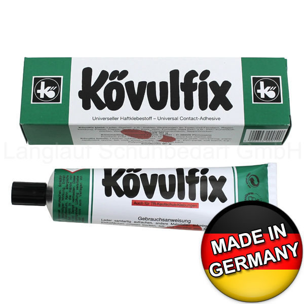 Koevulfix Rekord contact adhesive glue for all purpose, for shoes leather rubber felt cork and more. German Quality!
