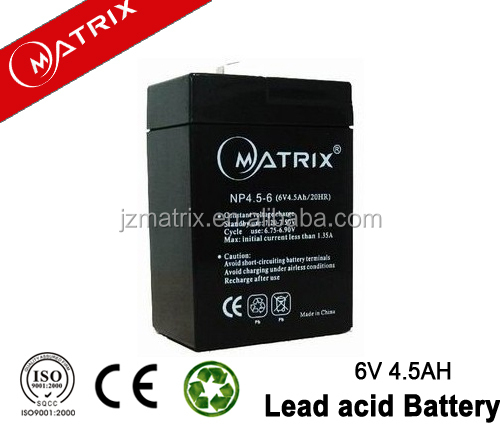 Rechargeable 4.5AH 6 volt toy car batteries wholesale