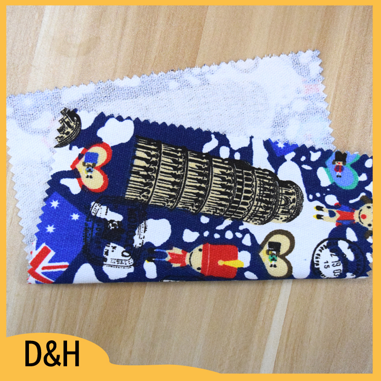 hot selling customized design printed cotton oxford fabric for bag shoes