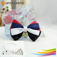 Wholesale big 100% polyester satin ribbon hair bow