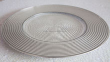 GOLD/SILVER SPIRAL DESIGN GLASS CHARGER PLATE FOR WEDDINGS EVENTS PARTY CHRISTMAS