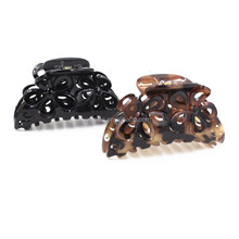 Trend Large Plastic Flower Style Hair Claws For Women Lady