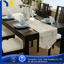 woven made in China polyester/cotton plastic woven table runner