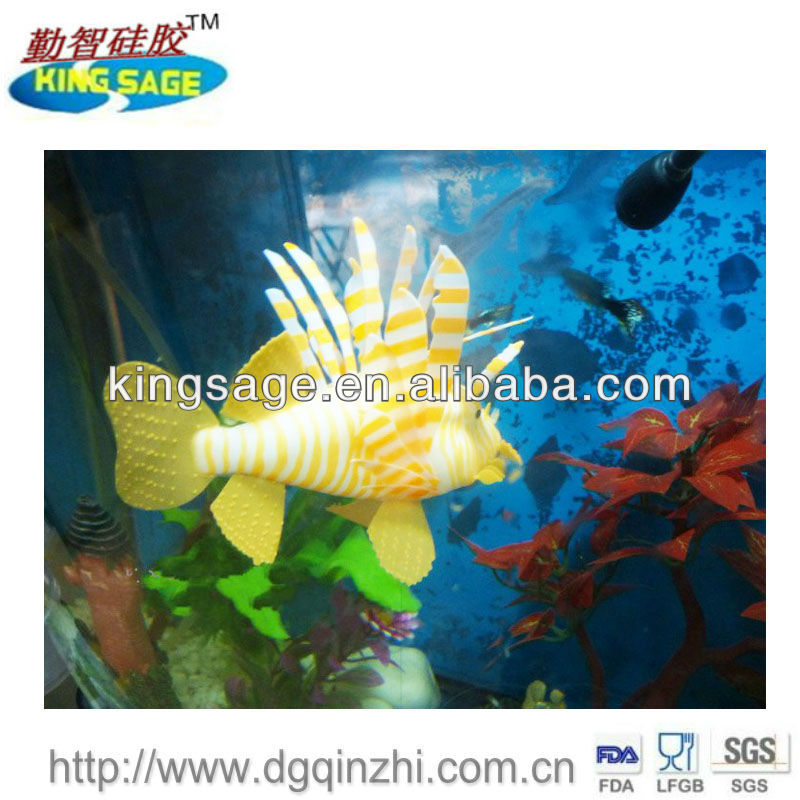 eco-friendly healthy perfect silicone fake fish aquarium
