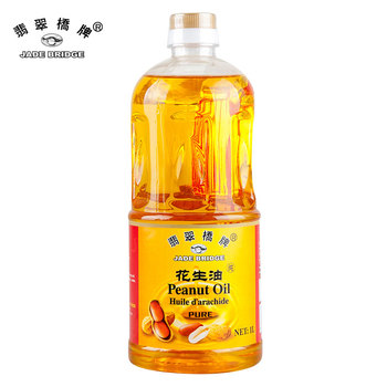 Refined crude peanut cooking oil