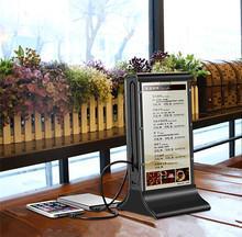 Patent Restaurant 20800mAh Power Bank Table Stand Menu Holder