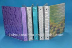biodegradable emboss 3D EVA / PEVA fashion file cover plastic sheet
