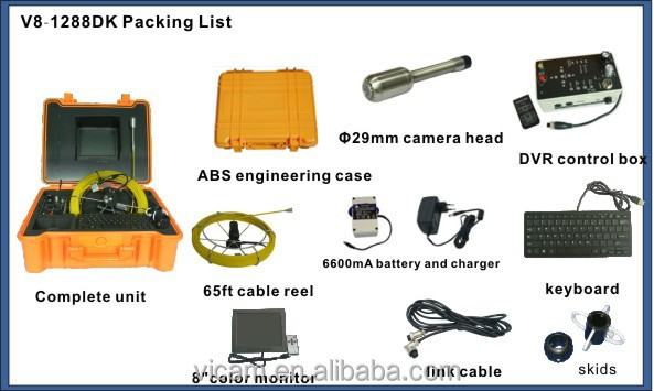 Durable borescope pipe inspection camera for sale