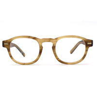 Custom optical glasses vintage buffalo horn design French style eyeglasses frames