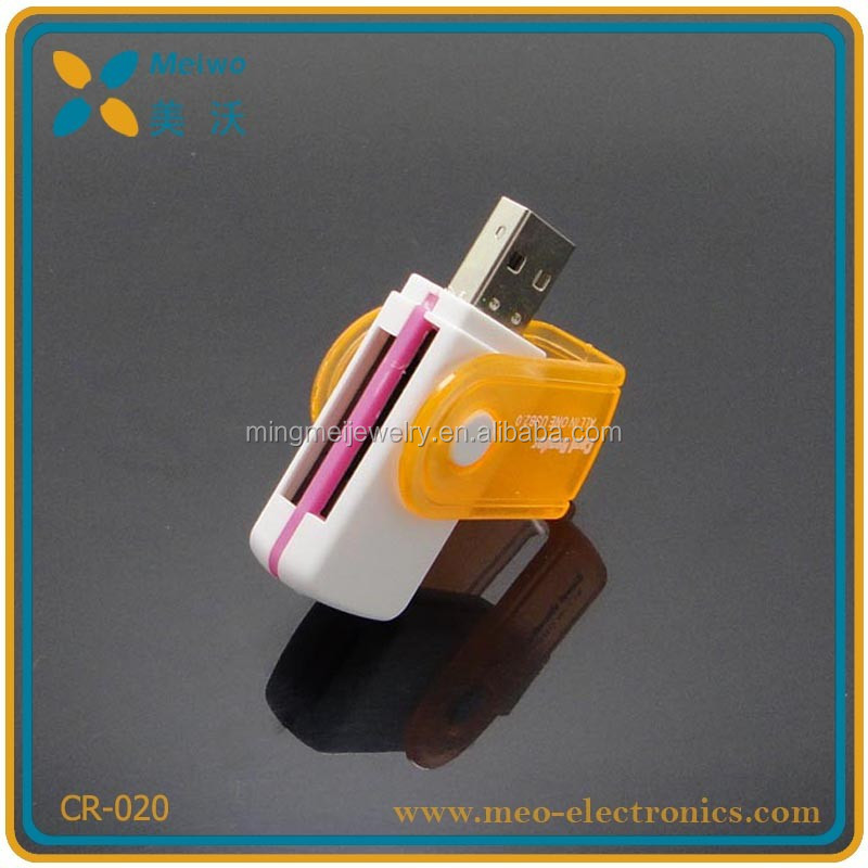 New products colorful usb smart card reader , micro usb sd card reader