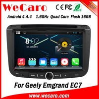 Wecaro WC-GE6001 Android 4.4.4 car dvd player for geely emgrand ec7 with radio 3G wifi playstore
