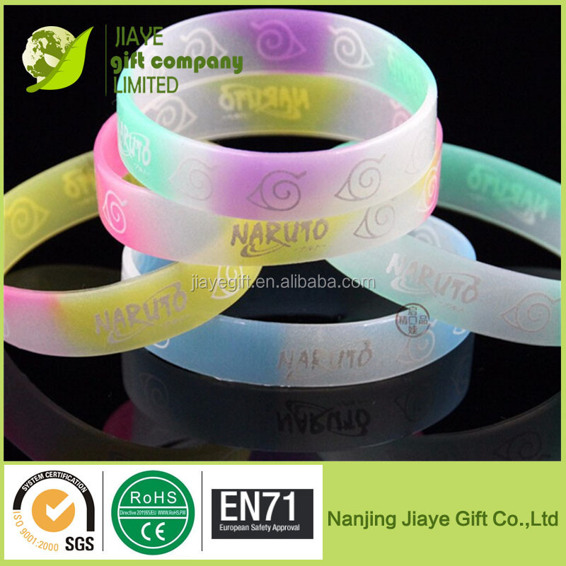 2015 Jiaye high quality glow in the dark silicone bracelet