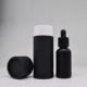 tube 15ml frosted black dropper glass bottles with tube