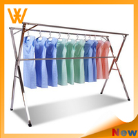 Balcony Stainless Steel Retractable Expandable Clothes Hanger