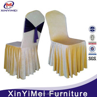 Cheap Durable Wedding Banquet Polyester White Chair Cover
